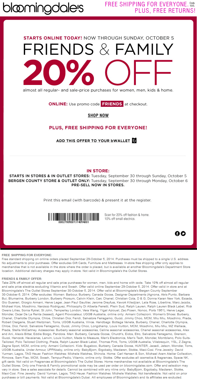 Pinned September 29th 20 Off At Bloomingdales Or Online Via Promo Code Friends Coupon Via The Coupons App App Coupon Apps Promo Codes