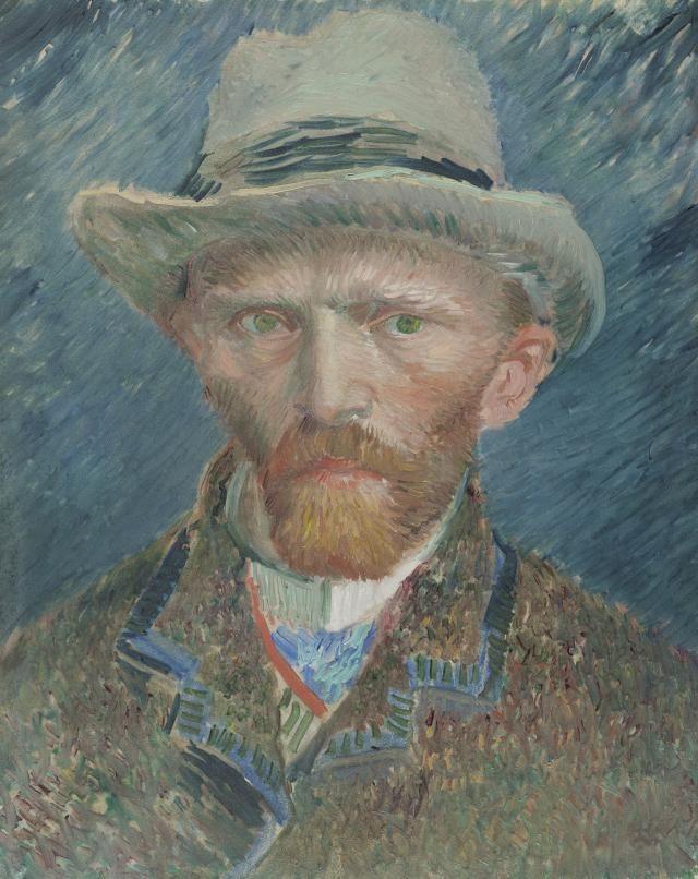 4a733ef152eeb Autorretratos de Vincent van Gogh  Vincent Van Gogh  Autorretrato con  sombrero de fieltro gris