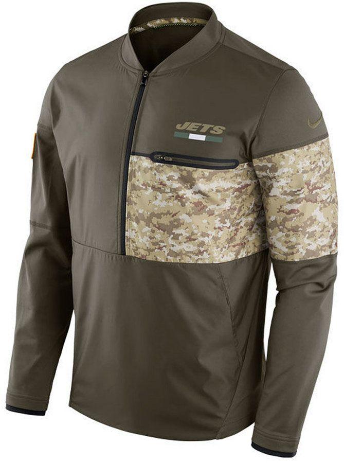 New Nike Men's New York Jets Salute To Service Hybrid Half Zip Jacket  hot sale