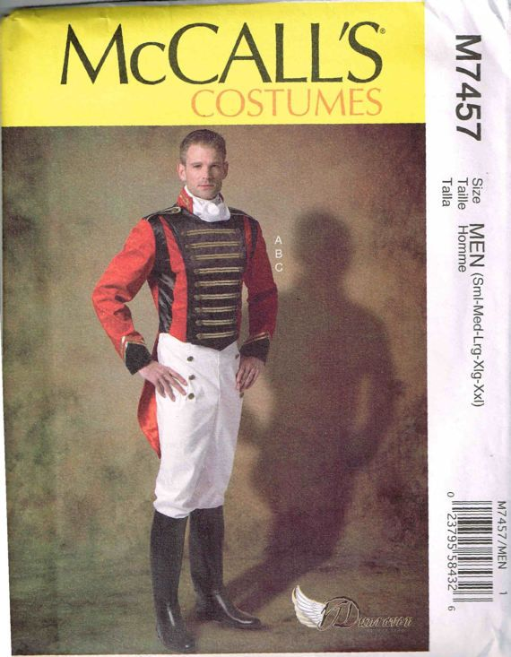 Napoleon French Military Uniform Costume Sewing Pattern McCalls 7457 ...