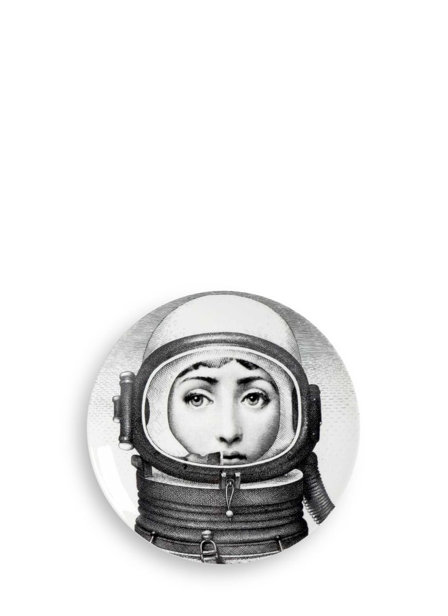 Fornasetti Art Prints Themes And Variations Wall Plate 181 Astronaut Helmet