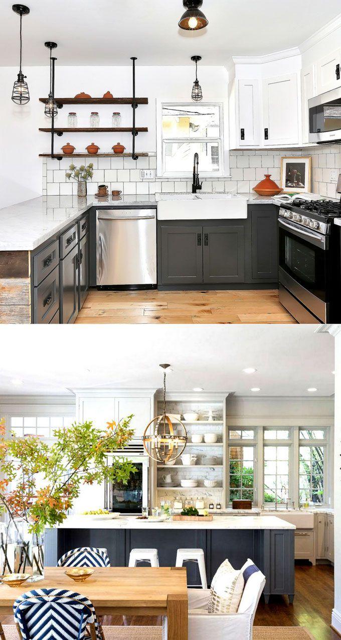 25 Gorgeous Kitchen Cabinet Colors Paint Color Combos Beautiful Kitchen Cabinets Kitchen Cabinet Colors Kitchen Colors