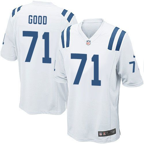 mens nike indianapolis colts 71 denzelle good game white nfl jersey