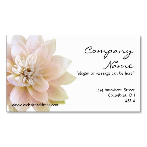 Beatiful lotus flower business card business cards and business beatiful lotus flower business card make your own business card with this great design colourmoves