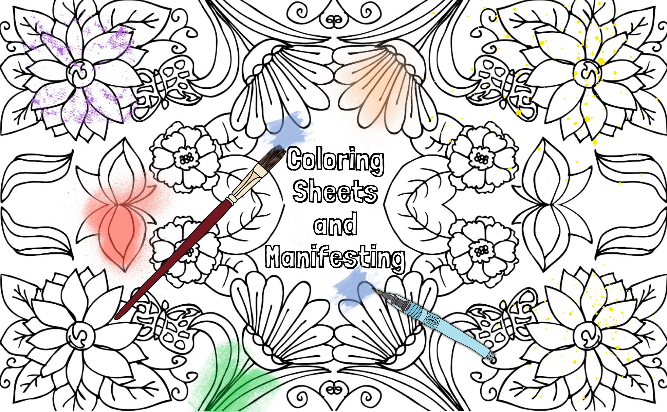 Affirmation Coloring Sheets Amp Manifesting This Is A Great