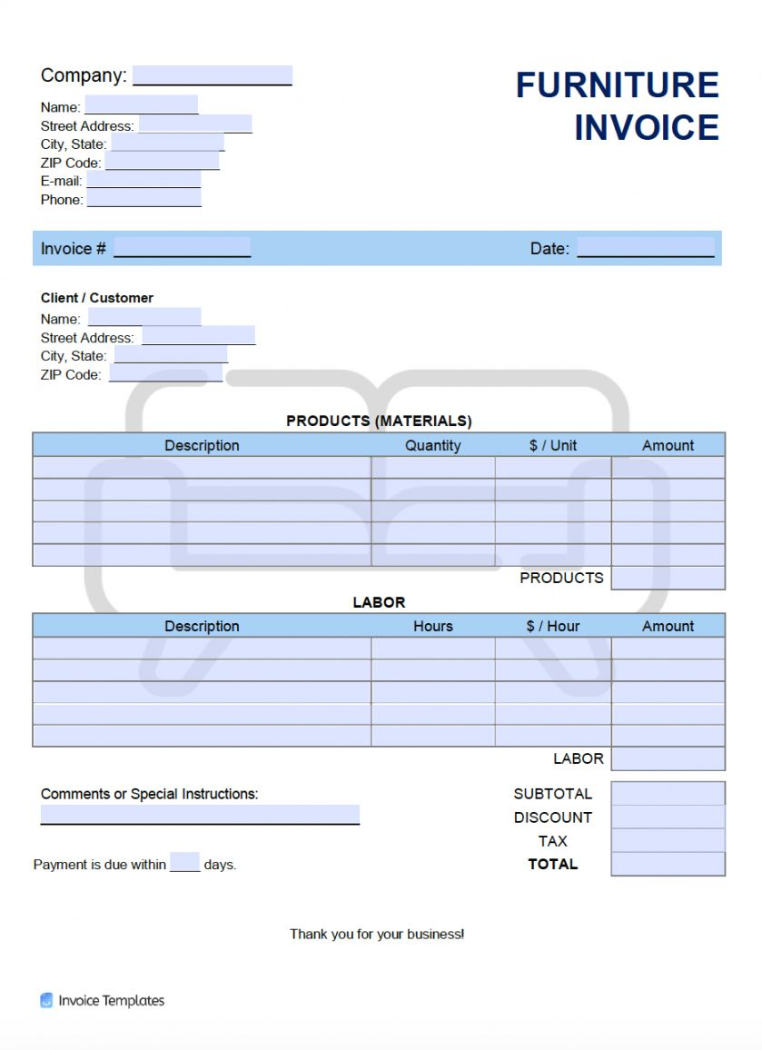 Explore Our Example Of Furniture Store Receipt Template Invoice Template Receipt Template Templates