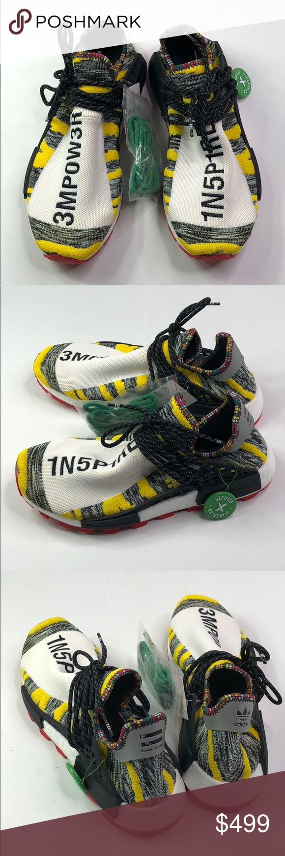 the latest 00165 f4be9 Pharrell x NMD Human Race Trail 'Solar Pack' CORE BLACK/RED ...