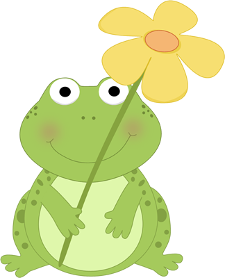 Cute+Spring+Clip+Art | Frog Holding a Flower Clip Art Image - cute ...