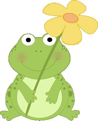 cute spring clip art frog holding a flower clip art image cute rh pinterest com Happy Spring Clip Art cute spring animals clipart