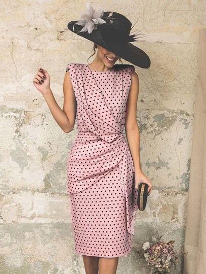 Photo of Polka Dot Sleeveless Bodycon Dress