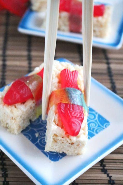Rice Crispy Sushi & Sashimi | The Spiffy Cookie #dessertsushi