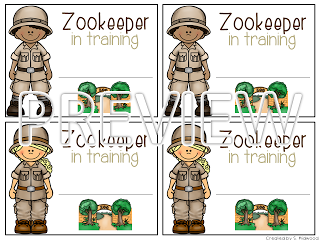 zookeeper in training zoo field trip name tags math
