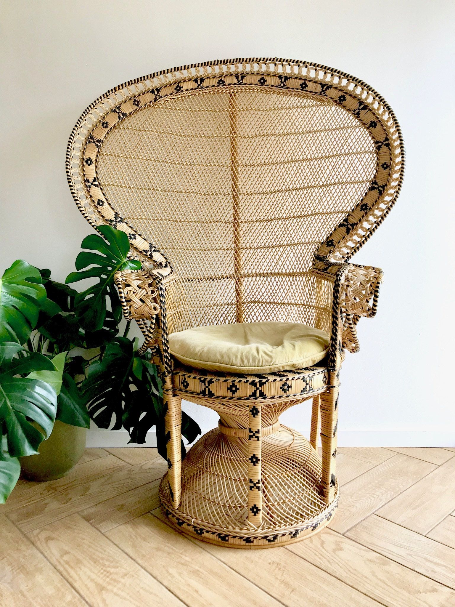 Adult Peacock Fan Chair Full Size Emmanuelle Wicker Chair 70 S