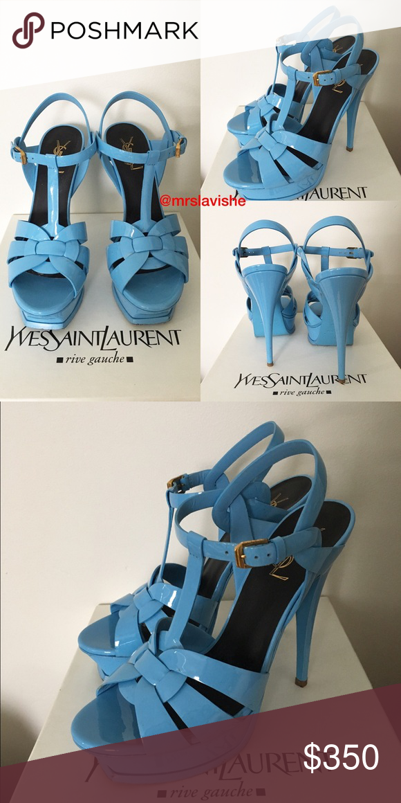 Saint Blue Yves Laurent Leather Tribute Patent HED2YWe9I