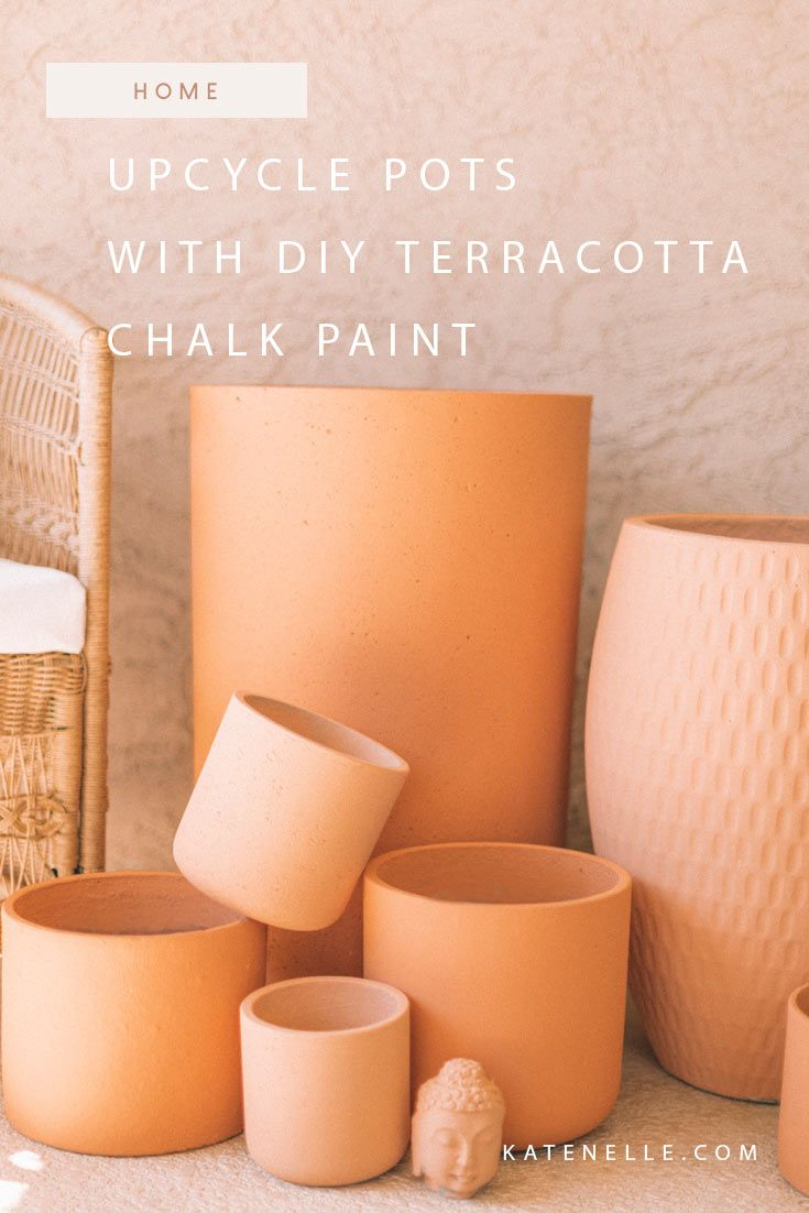 Photo of Upcycle Pots with DIY Terracotta Chalk Paint – Kate Nelle