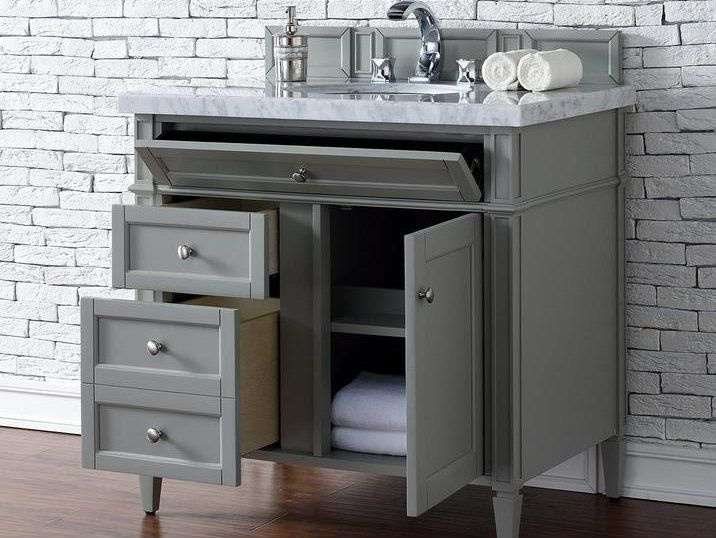 charming birch bathroom vanity cabinets. Contemporary 36 inch Single Bathroom Vanity Gray Finish  No Top Birch Solids and Veneers Soft close undermount drawer glides soft door Brittany Urban Grey bathroom