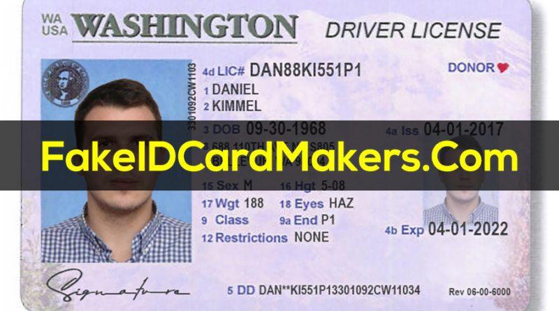 Washington Drivers License Template PSD [ID Card] in 2020