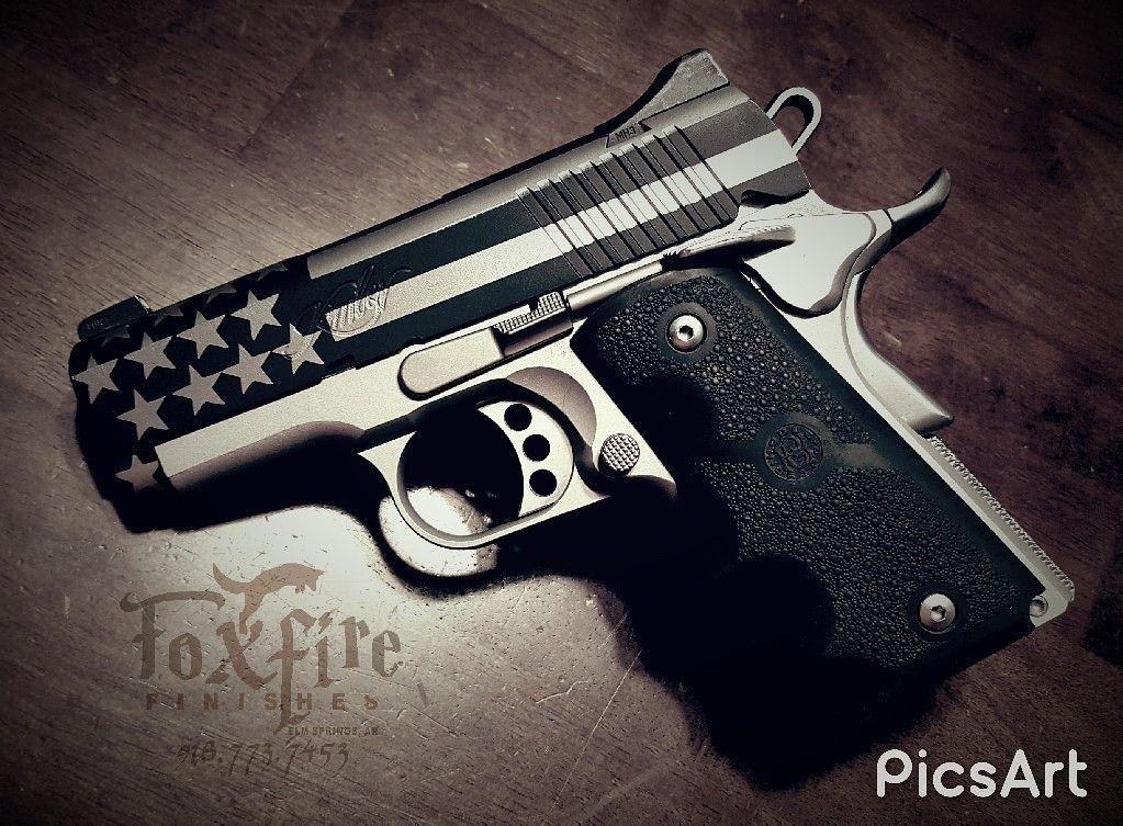 Kimber 1911 Cerakote American Flag Guns Cerakote Kimber