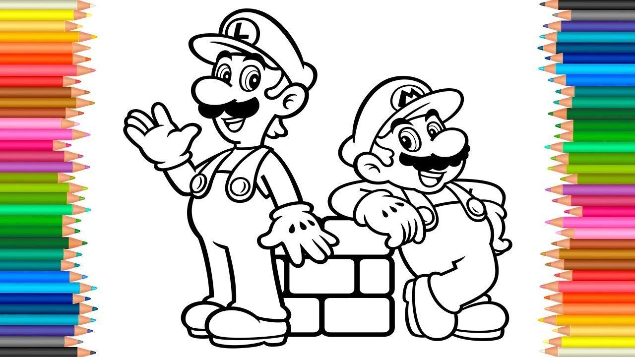 Mario Luigi Coloring Book L Coloring Pages Super Mario Videos For Chil