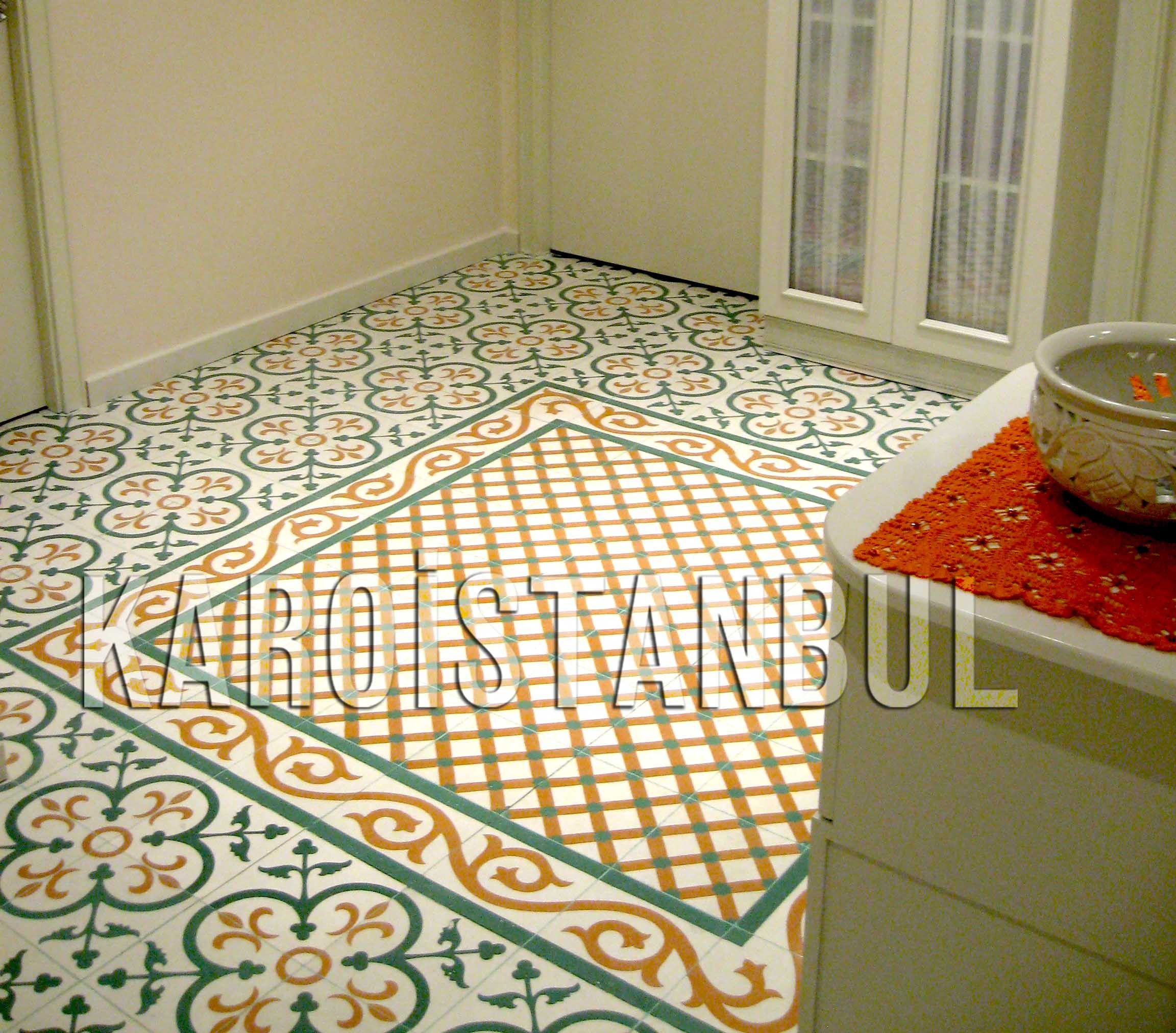 Encaustic Cement Tile Tiles In The Turkish Press Karoistanbul - Place and press floor tiles