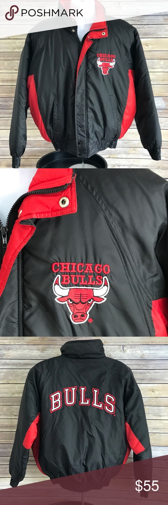 Vintage Chicago Bulls Puffer Coat Nba Competitor Puffer Coat Jackets Clothes Design
