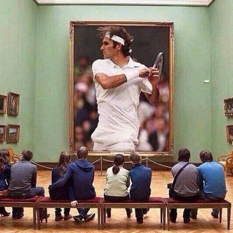 The masterpiece of art contemporain #federer #thebest #tennis