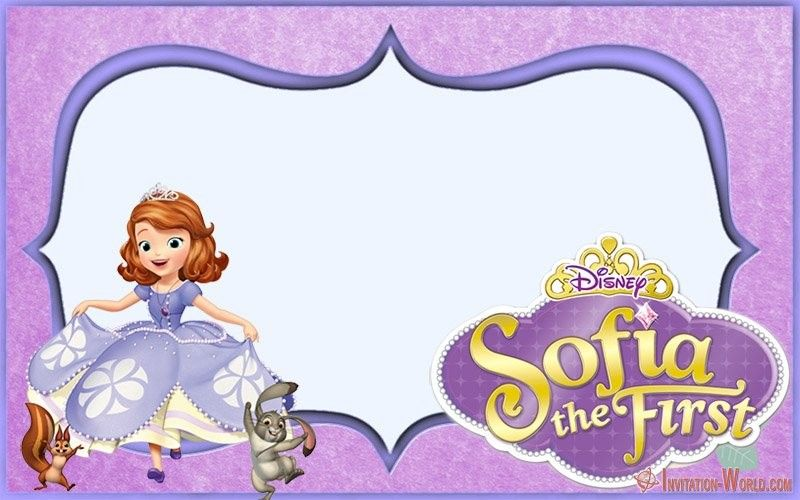 Sofia The First Free Online Invitation Templates Invitation World Birthday Invitation Card Template Sofia Birthday Invitation Free Online Invitation Templates