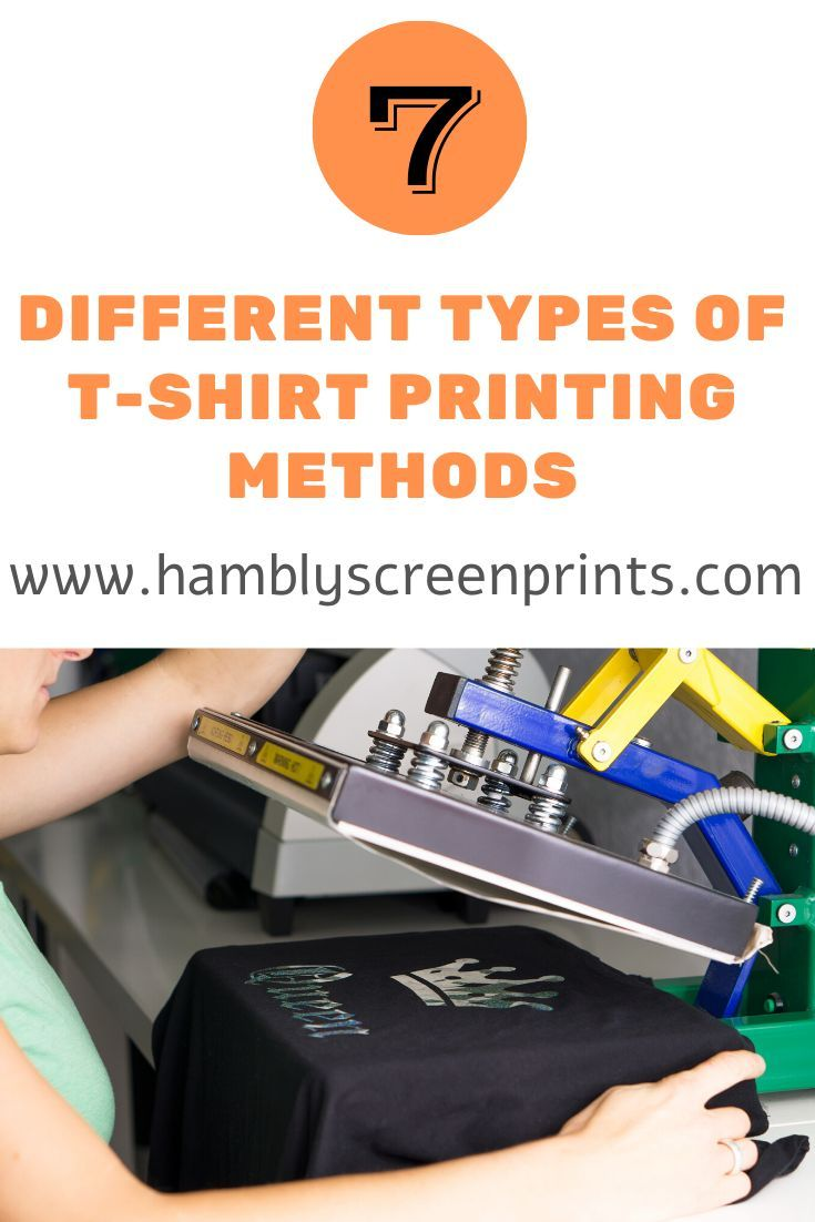 Different types of tshirt printing methods in depth
