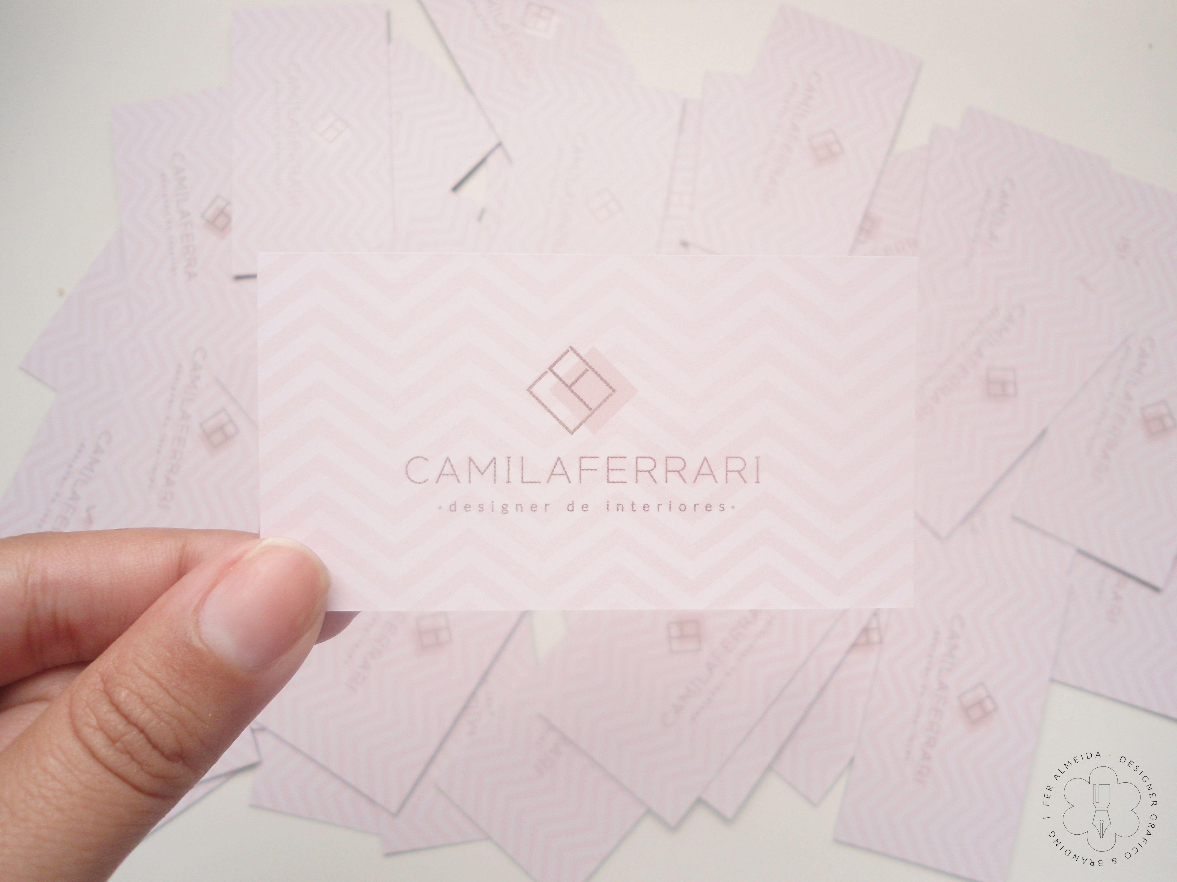 Cartão de Visita Camila Ferrari Designer de Interiores