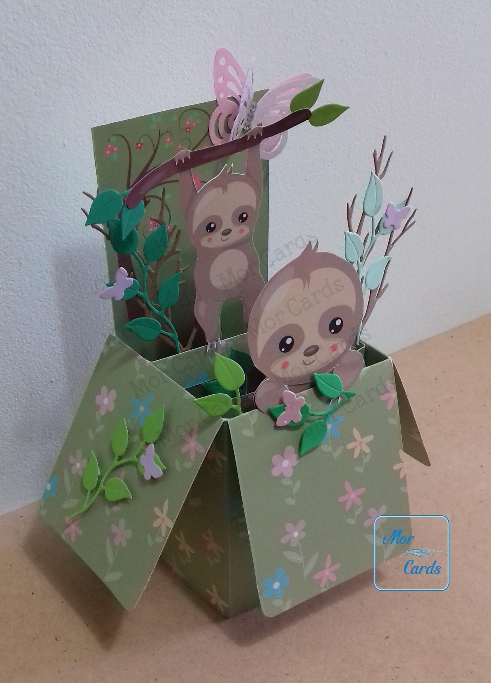 Personalised Sloth Birthday Card
