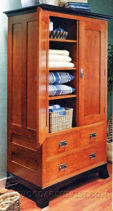 Bon Cherry Armoire Plans   Furniture Plans And Projects | WoodArchivist.com