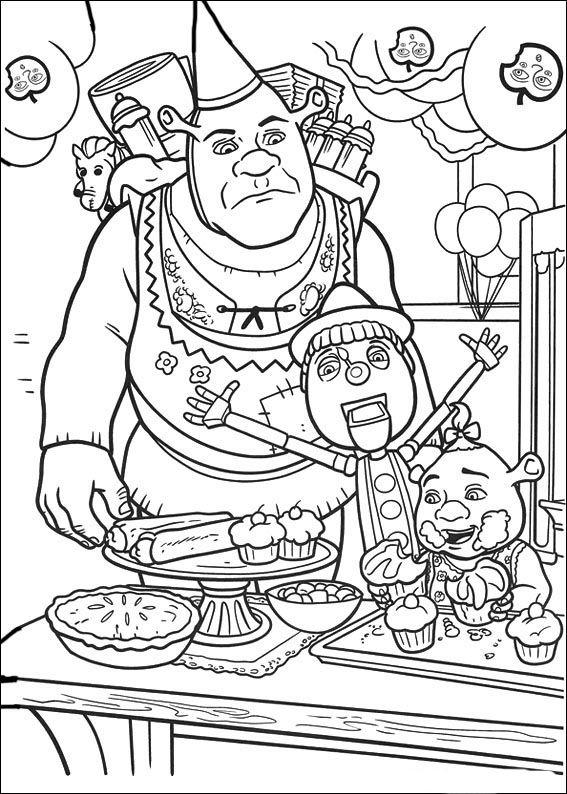 Dibujos para Colorear Shrek 102 | Dibujos para colorear para niños ...