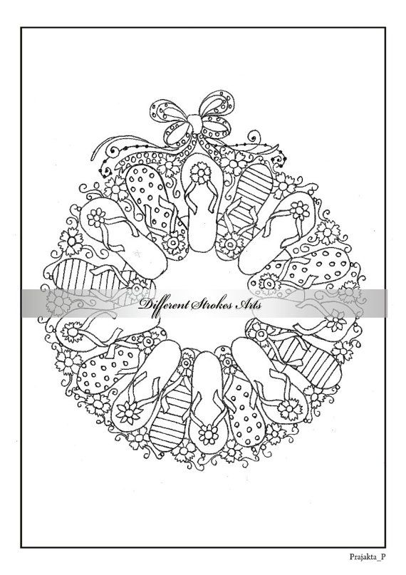 adult christmas coloring book printable by differentstrokesarts - Christmas Coloring Book Printable