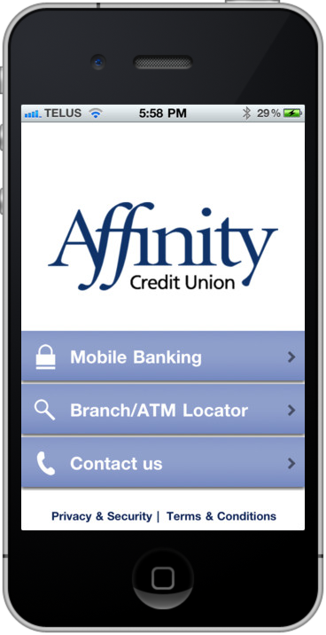 The Official Affinity Mobile Provides Credit Union Members With Banking And An Atm Branch Locator Available On Iphone Android