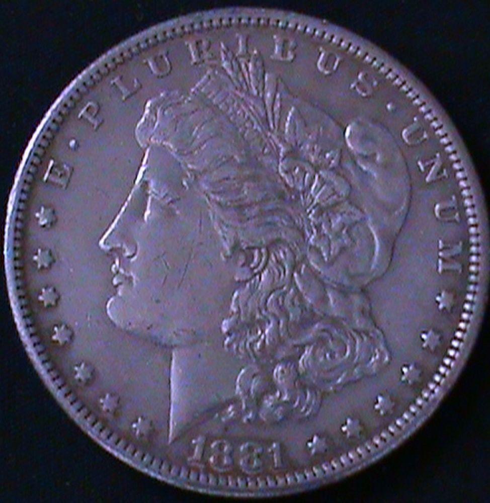 1881-S 1881 S MORGAN SILVER DOLLAR 90% SILVER San Francisco Mintage BU Coin