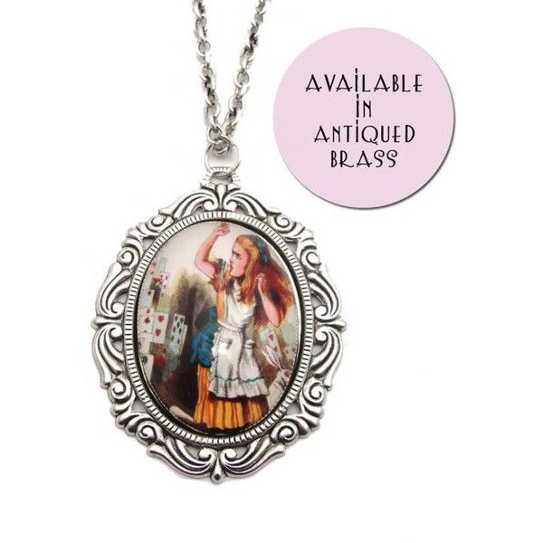 Alice in wonderland long chain pendant (335 SEK) ❤ liked on Polyvore featuring jewelry, cameo jewelry, vintage pendants, vintage cabochon jewelry, cameo pendant and cabochon jewelry