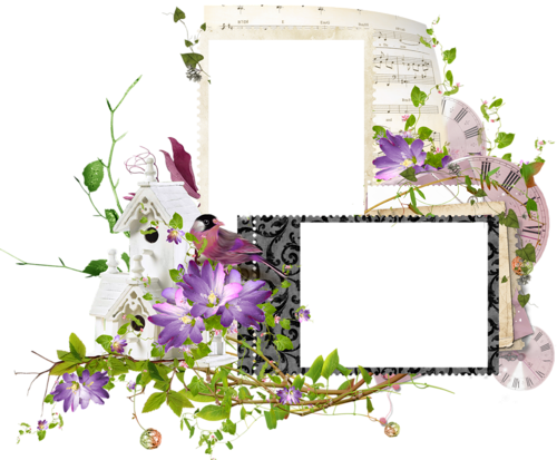 Double frames with flowers | Frames/Borders/Corner Accents ...