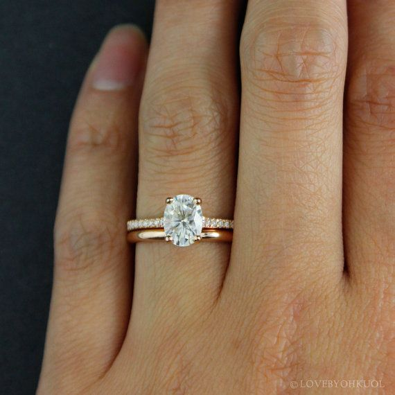 Forever One D-E-F Colorless Oval Solitaire Engagement Ring