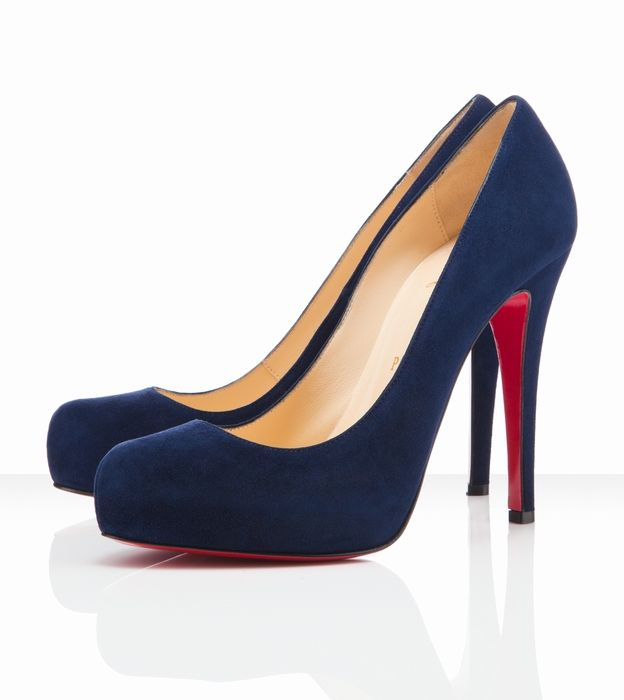 Christian Louboutin Rolando 120mm Navy--perfect year-round.