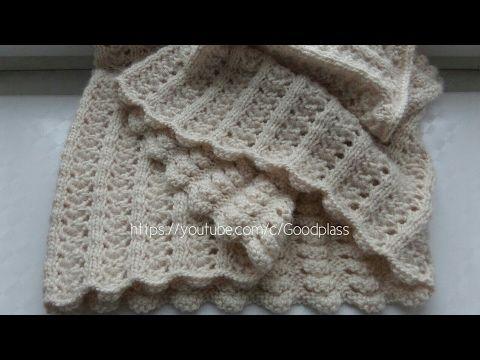 ажурный шарф снуд хомут вязание спицами Knittinghobby Youtube