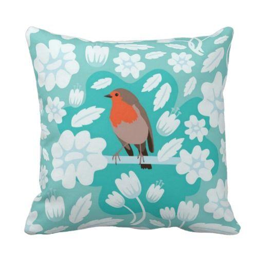 Robin - Mint Blue Pillow
