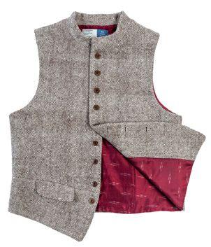 The Ganges Men's Wool Waistcoat - front