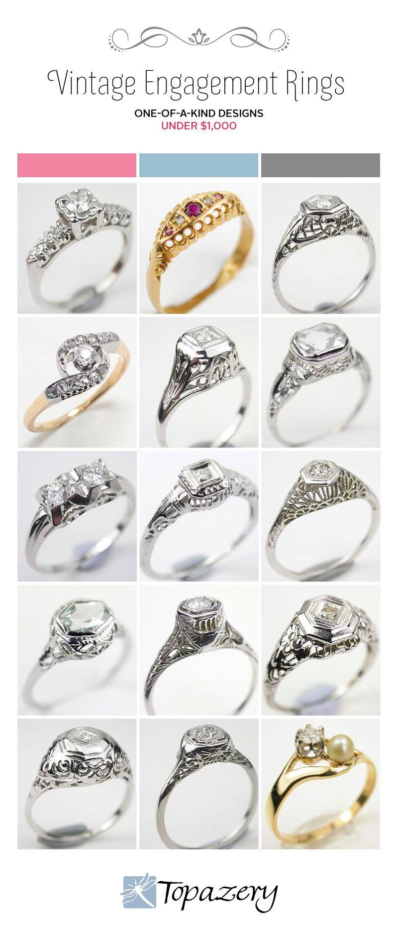 Vintage Engagement Rings On A Budget Wedding Pinterest Vintage