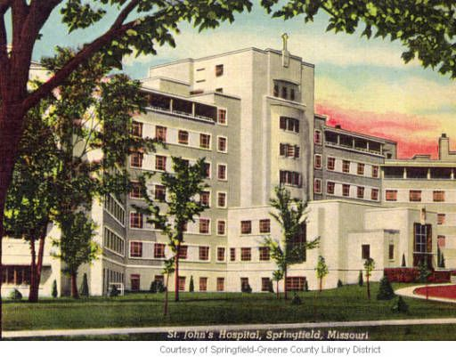 St John S Hospital Springfield Mo Historic Postcards Of Springfield Missouri Old Pictures Missouri Springfield Missouri