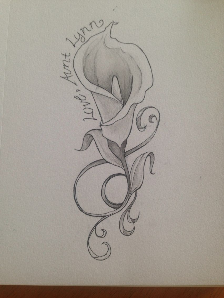 Calla lilly tattoo concept 1 my artwork pinterest lillies calla lilly tattoo concept 1 izmirmasajfo Gallery
