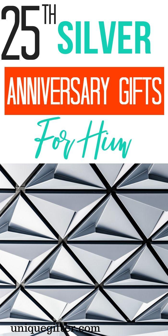 edd47df56e40a 25th Silver Anniversary Gifts for Him
