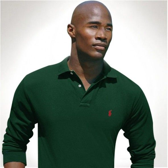 Ralph Lauren Long Sleeved Men Darkgreen Mesh Polo http://www.ralph-