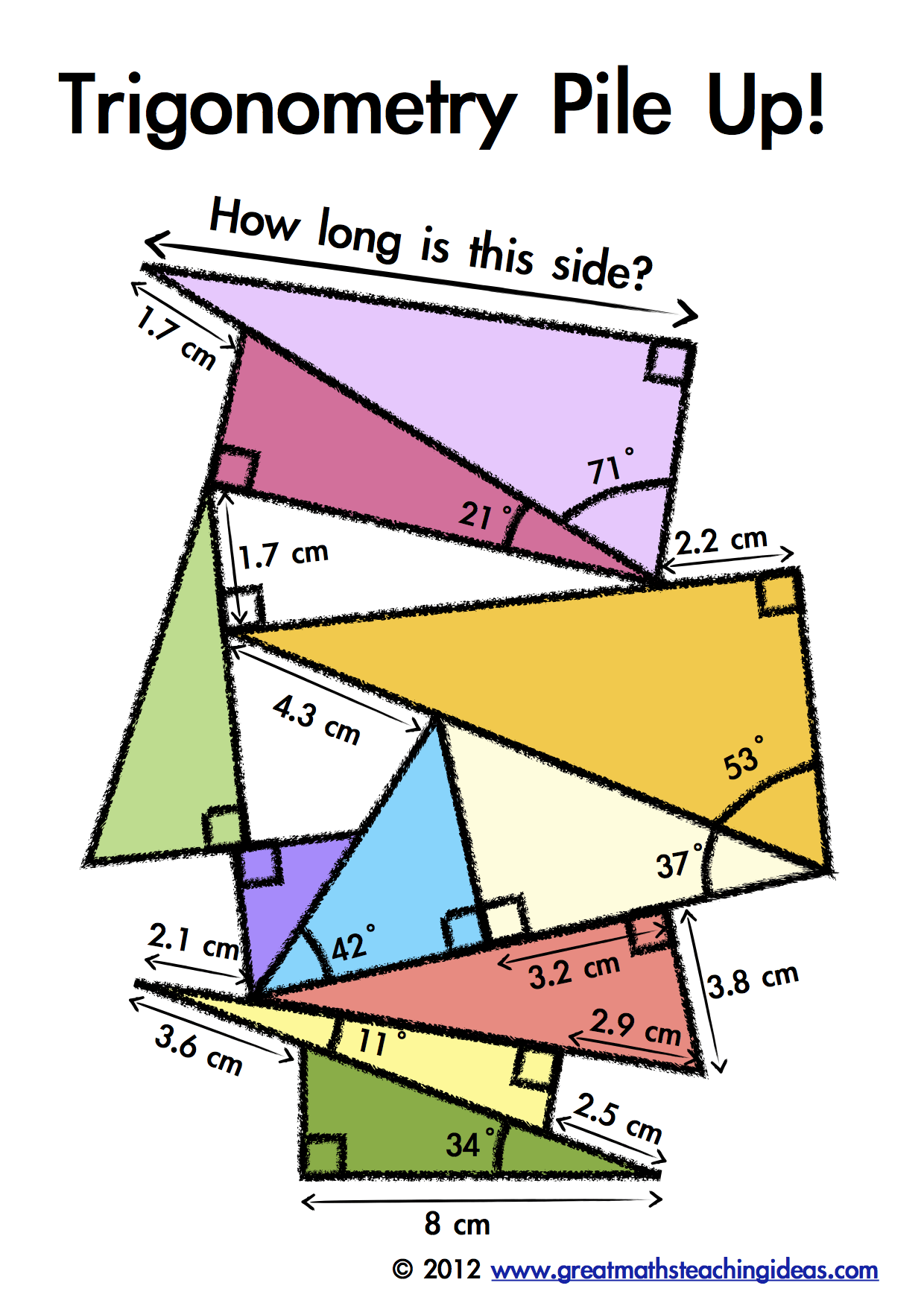 Trigonometry Pile Up | School Stuff | Math classroom, Math