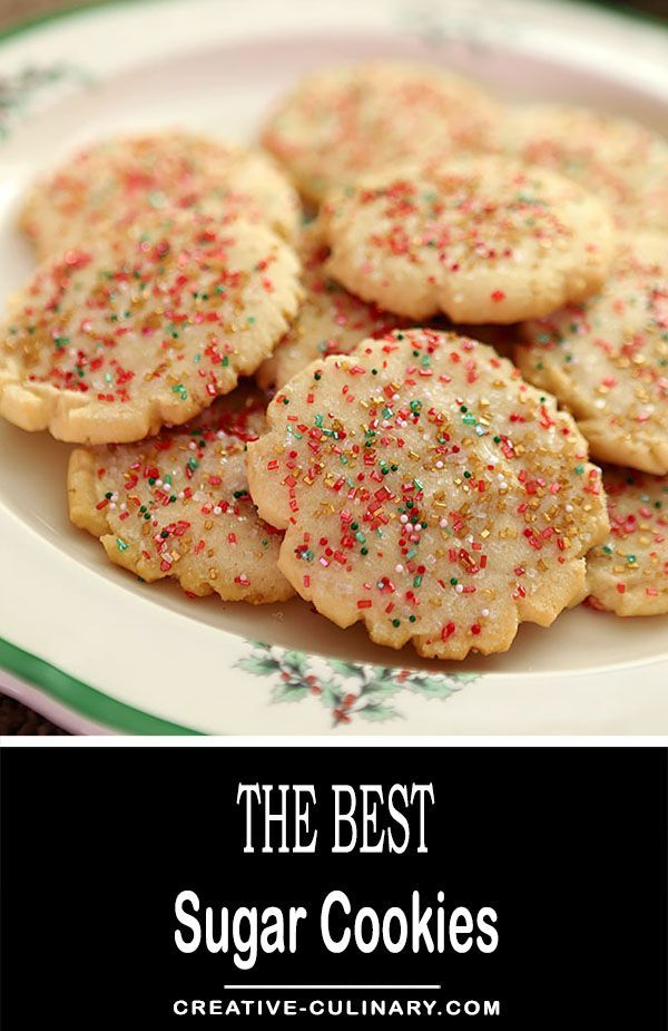 My favorite cookie for frosting and decorating for any holiday or special event including birthdays, weddings, Christmas and Valentines Day. The Best Sugar Cookies are so simple too; no rolling or cutting out. We just love them with some large colorful decorating crystals that are matched to the occasion! via @creativculinary