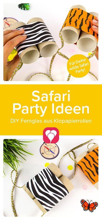Safari Party Ideen für Deinen #Kindergeburtstag! Lass die tierische #Party starten und bastel mit den Kindern diese coolen DIY #Ferngläser für echte kleine Entdecker!   Mehr Party Ideen gibts auf unserer Website balloonas.com  Viel Spaß beim #Basteln!  Dein balloonas Team   #safariparty #safarigeburtstag #dschungelgeburtstag #dschungel #upcycling #klopapierrollen #bastelnmitkindern #kinderparty #sommer #partyideen #safari #balloonas #partyspiel #DIY #DIYfürKinder